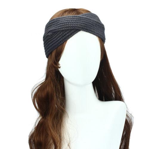 Women/'s Knit Headband Crochet Winter Hairband Hair Band Headwrap Headpiece New L