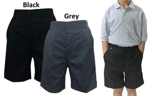 Boys Long Half Uniform School Elasticated Cargo and Bermuda  Shorts