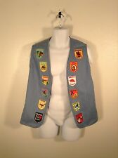 Handmade VTG Custom Denim Jean 1977 Biker Motorcycle Patch Vest Men Sz M