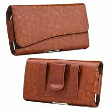 """For Samsung Galaxy Mega 6.3"""" GT-I9200 Horizontal Pouch Leather Case Brown"""