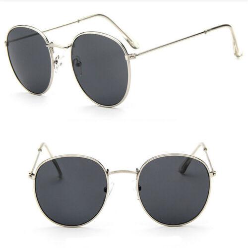 Men Women Unisex Round Circle Metal Sunglasses Vintage Oversized Mirror Glasses