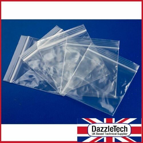 100 X Grip Seal sacs Clair Auto Auto-adhésive Petit Plastique Zip Lock Bag 55 x 55 mm