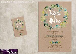 Partecipazioni Matrimonio Kraft.Partecipazioni Personalizzate Matrimonio Inviti Nozze Carta Kraft