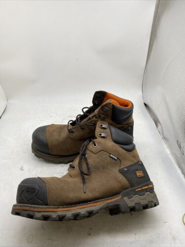 """TIMBERLAND Boondock 6"""" Brown Leather Composite Toe"""