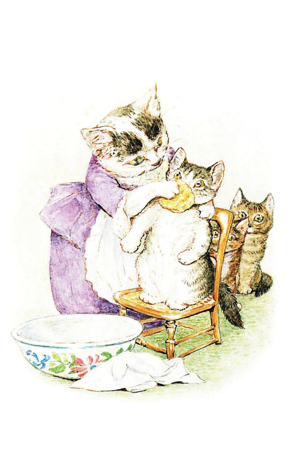 Postcard Beatrix Potter The Tale of Tom Kitten P137x