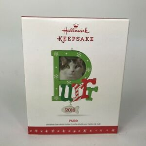 Hallmark-Ornament-Purr-Purrr-2016-Photo-Holder-Picture-Frame-QGO1114-Cat-Holiday