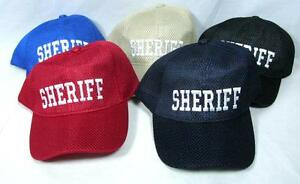 Wholesale Lot 12 Sheriff Hats Mesh Baseball Cap Law Enforcement Cop Adjustable