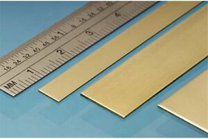 ALBION ALLOYS BS3M Laiton - Brass Strip 25 x 0.4 mm (3p.)