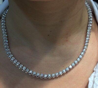 rivenditore di vendita c1344 b837b 13.5 Carati Diamanti Tennis Collana 14k Oro Bianco | eBay