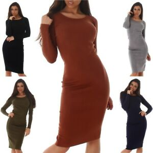 Women-039-s-Long-Sleeve-Midi-Sweater-Dress-One-Size-S-M-L