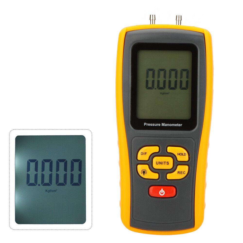Manómetro de Vacío Presión Diferencial Calibrador USB Digital LCD 10kPa Gauge
