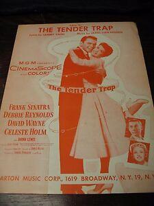 FRANK SINATRA Sheet Music 1955 Love Is The Tender Trap Debbie Reynolds