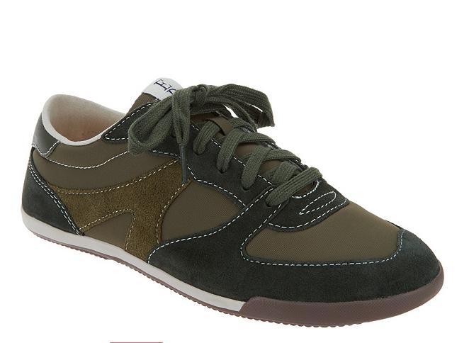 ED Ellen DeGeneres Suede Lace-up Sneakers - Ellert Parsley Green Women's 9 New