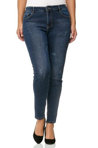 JEANS donna pantaloni misure grandi big size PLUS SIZE jeans a sigaretta hüftjeans TUBO 42-50
