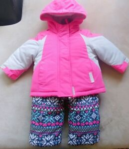 7aae7c979 Carters Infant Girls Blue Snow Bibs & Winter Coat Set Nordic Print ...