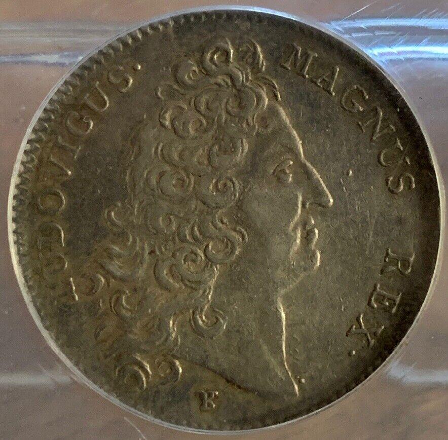 1714 JETON France, Louis XIV, Ordre du Saint Esprit,  ANACS EF 40