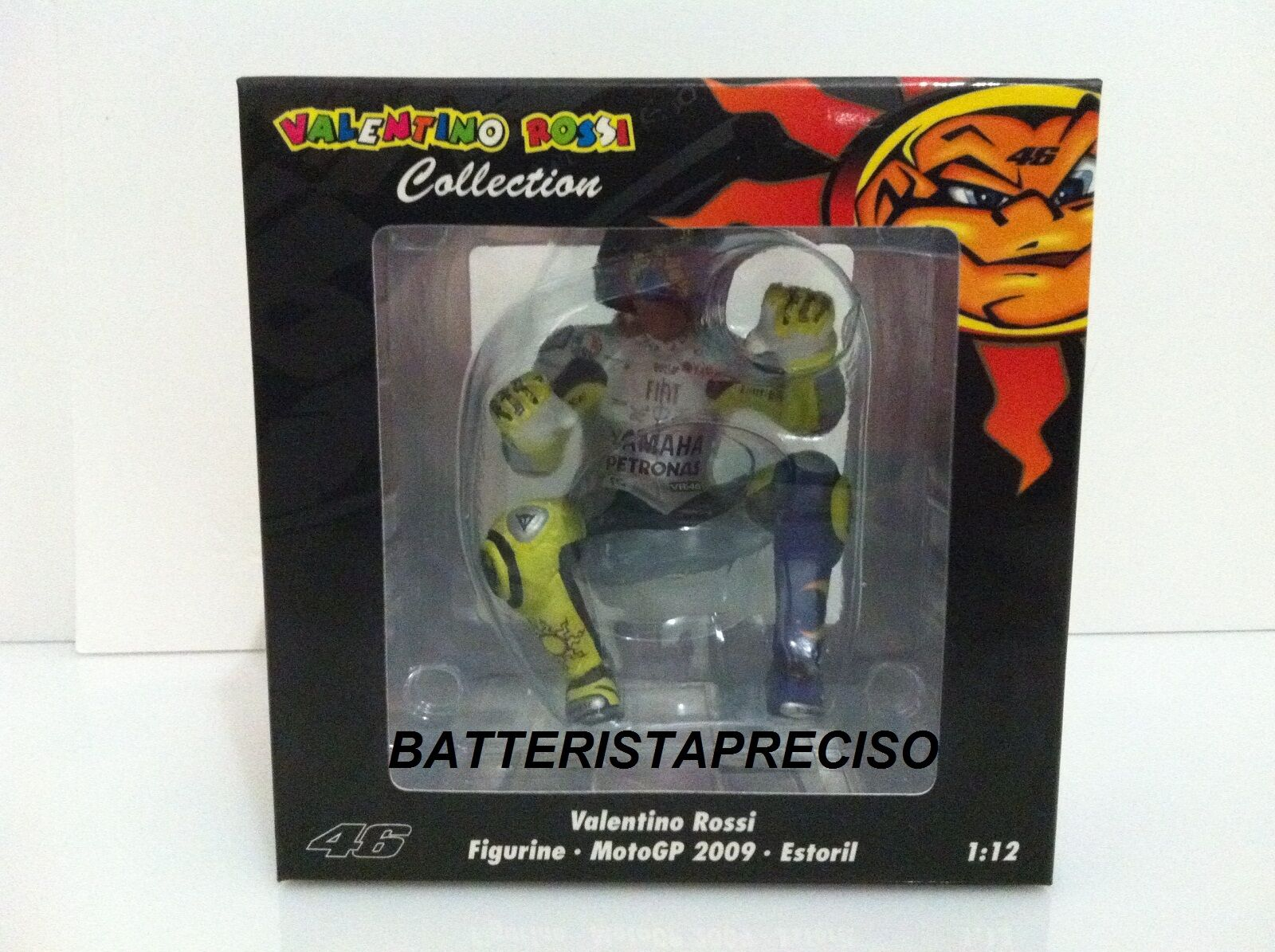 MINICHAMPS VALENTINO ROSSI 1 12  PILOTA  GP  ESTORIL  2009  FIGURE NEW FIGURINE