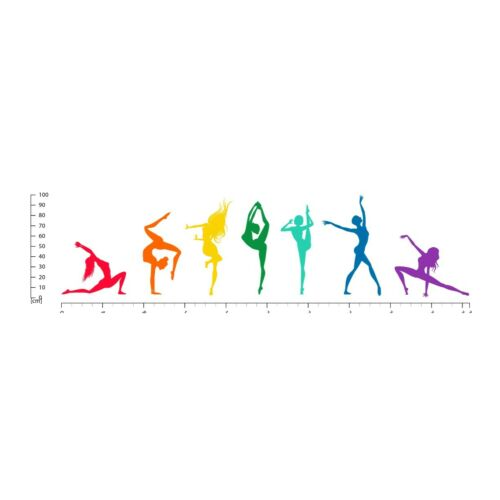 Rainbow Dancers Ballet Dance Wall Sticker WS-47528