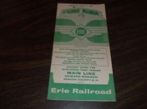 APRIL-1958-ERIE-RAILROAD-FORM-7-MAIN-LINE-NEWARK-BRANCH-PUBLIC-TIMETABLE