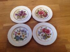 Hornsea Country Scene  4 Side Plates 17cm 4 Different Floral Patterns .