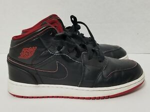 info for 33f93 b85e0 Image is loading Nike-AIR-JORDAN-1-Mid-BG-Black-Red-