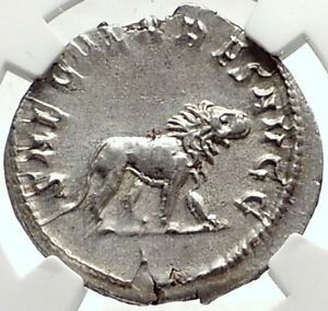 PHILIP-I-the-ARAB-1000-Years-of-Rome-Colosseum-LION-Silver-Roman-Coin-NGC-i68727