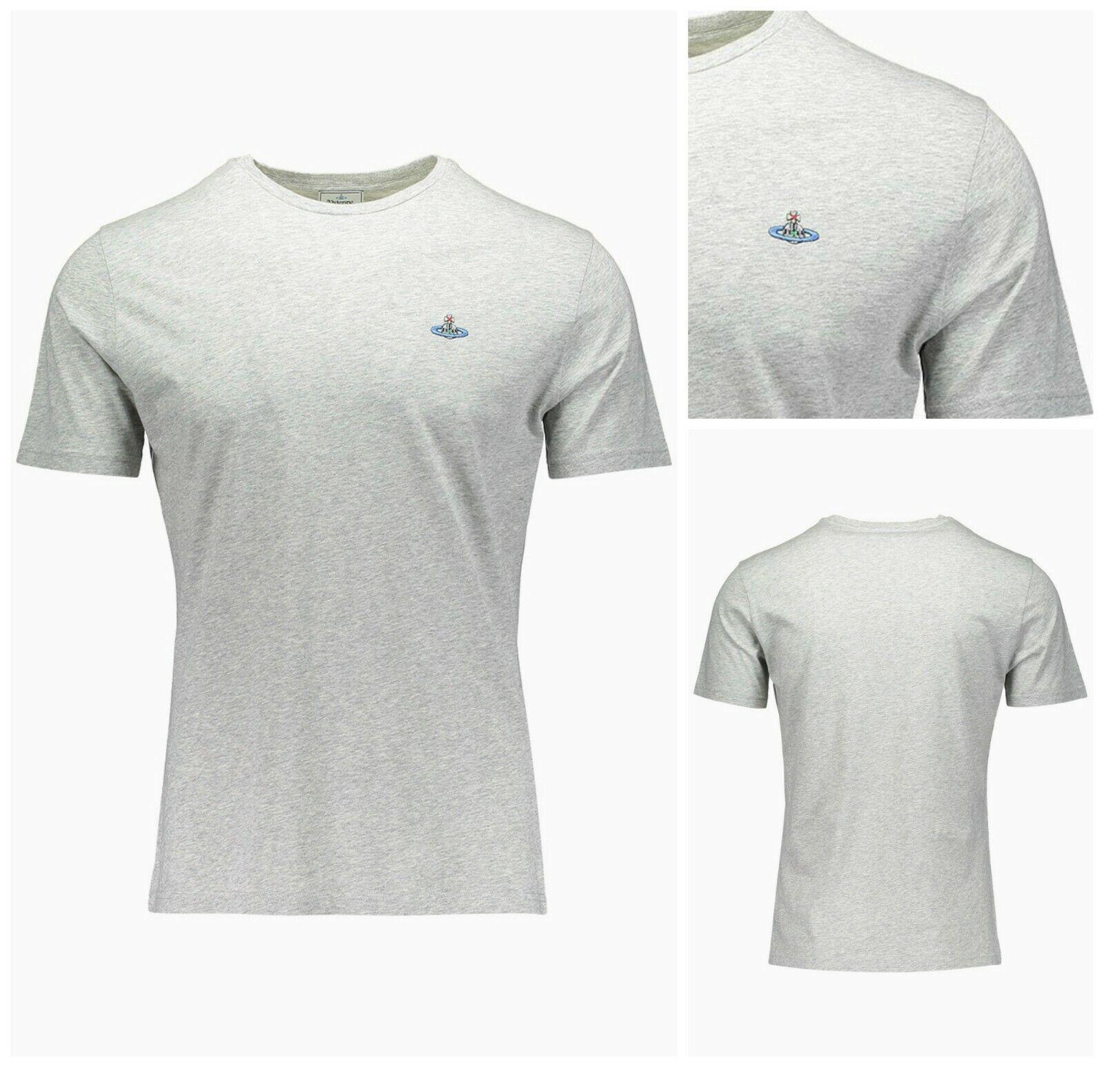 Authentic Vivienne Westwood Grigio T-Shirt. Girocollo Tee Regular Fit Cotone  T-Shirt. Grigio XXL b9b726 183854c64054
