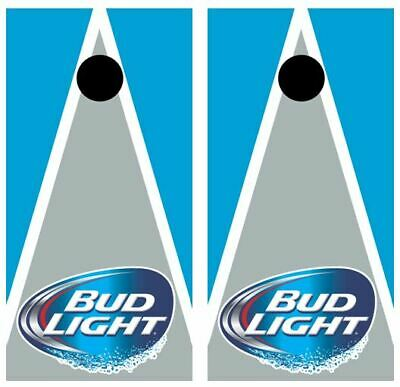 Bud Light Triangle Cornhole Board Wraps FREE LAMINATION #3172
