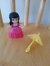 "DISNEY ~ SOFIA THE FIRST ~  Vivian w/ umbrella MINT figure 3"" Just Play collect"