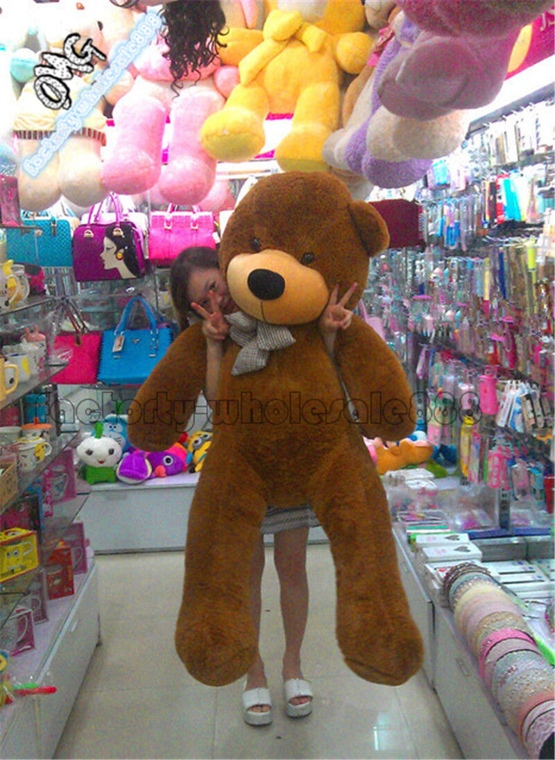55'' Giant Big marrone TEDDY BEAR Toys Plush Stuffed Soft Huge Dolls Birthday GIFT