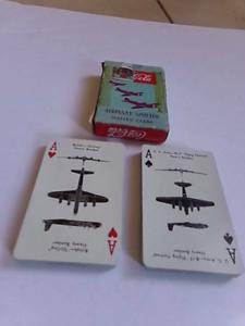 RARE Vintage Coca Cola WW2 Military War Nurse Airplane Spotter Playing Cards