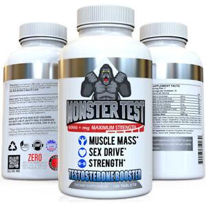 Testosterone Booster Monster Test All Natural For Men 6000mg of Power + Tribulus