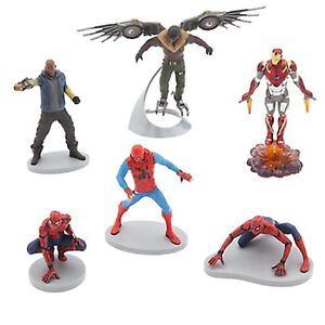 Disney-Store-SPIDER-MAN-HOMECOMING-Playset-Action-Figures-Mini-Doll-Play-Set