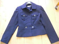 Next Petite Navy Jacket Size 6 (more like a size 8)