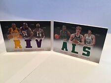 Panini Preferred Booklet Rivals Bryant O'Neal Chamberlain Pierce Bird McHale /10
