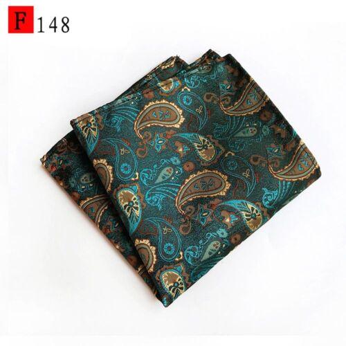 Men's Stylish Floral Paisley Handkerchief Wedding Party Hanky Pocket Square HOT