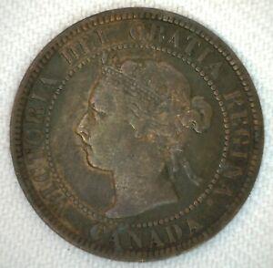 1901-Canada-One-Cent-Coin-1C-Bronze-You-Grade