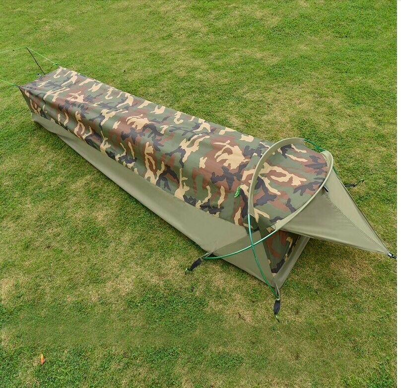 Camping Hiking Trekking Military Army Bivy Bag Tent 1 Person Survival Camouflage