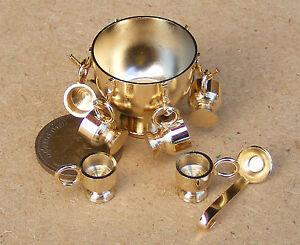 1-12-Scale-Metal-Punch-Bowl-Set-Tumdee-Dolls-House-Miniature-Kitchen-Drinking