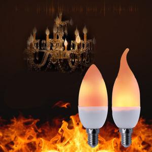 E12-Luce-LED-Fiaccola-Fuoco-Lampada-Fiamme-Effetto-Lampadina-Lumino-Pere-Nuovo