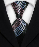 Stylish Striped Silk Jacquard Classic Woven Meeting Party Man's Tie Necktie M062