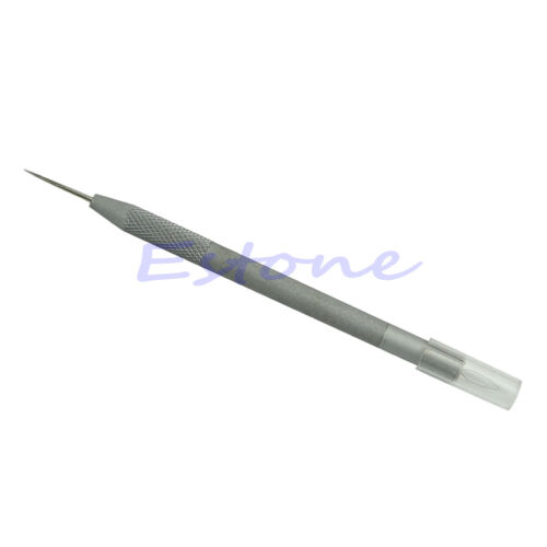 Needle Threader Thread Guide Device /& Leather Craft Cloth Awl Punch 2 in 1 Tool