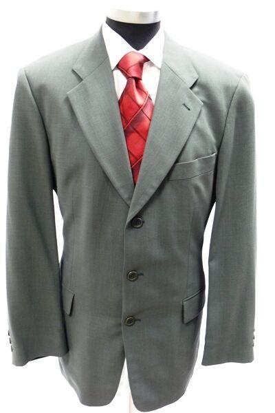 Hugo Boss Sakko Tataglia Einreiher Grün Unifarben Schurwolle Gr. 50