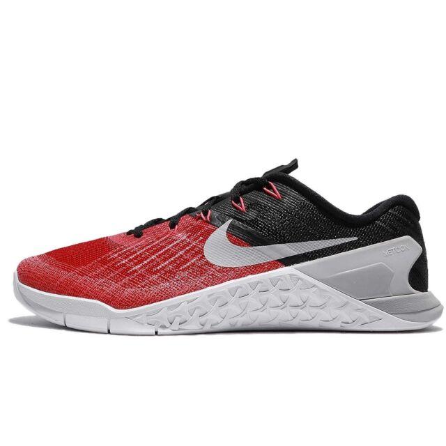 nike mens metcon 3 training shoes track university red grey crossfit rh ebay com