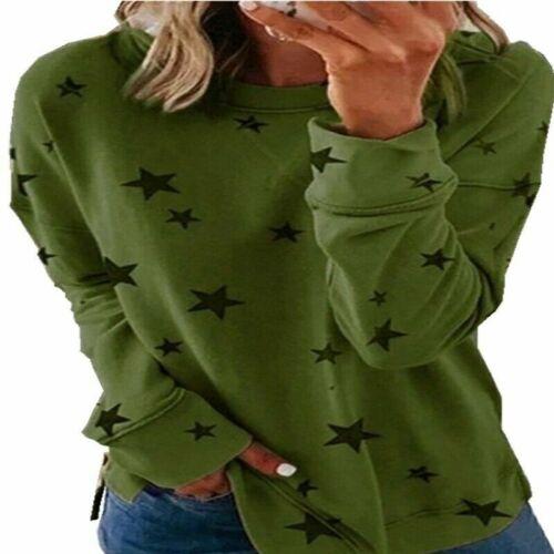 Women Long Sleeve Sweatshirt Plus Size Pullover Ladies T-Shirt Loose Jumper Tops