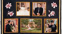Gone With The Wind Magnolia Panel Rhett Butler Scarlett Ohara Fabric 23 Inch