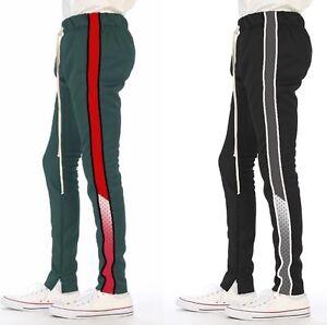 EPTM-Epitome-Men-039-s-Techno-Side-Zipper-Long-Drawstring-Mesh-Panel-Track-Pants