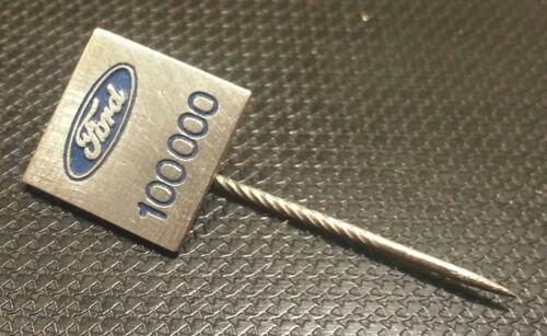 Ford Anstecknadel für 100000 Kilometer lackiert 12x12mm alt+original
