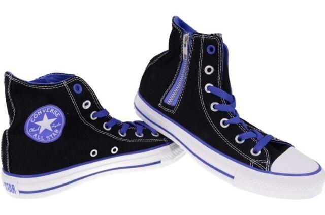 001d268058fcab Converse Chuck Taylor All Star Side Zip Hi Shoes Black Blue Men Women Shoes  NEW