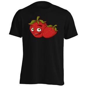 Me-encanta-Fresa-sonrisa-divertido-Frutas-Nuevo-Para-Hombre-Camiseta-Camiseta-sin-mangas-b764m